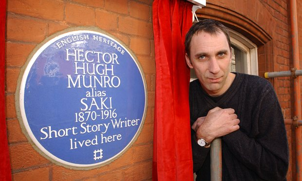 Will Self unveils Saki plaque