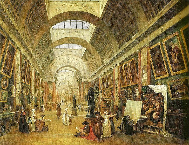 Hubert Robert - Vue de la Grande Galerie du Louvre