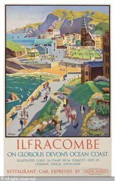 Ilfracombe poster by Adrian Allinson